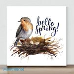 Mini-Hello Spring Bird(Already Framed Canvas)