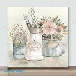Mini -Shiplap Flower Market (Already Framed Canvas)