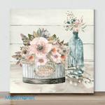 Mini -Shiplap Plants & Flowers(Already Framed Canvas)