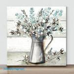 Mini -Farmhouse Cotton Tin Pitcher(Already Framed Canvas)
