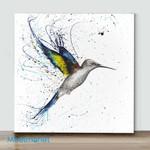 Mini-Humming Bird Wall Art(Already Framed Canvas)