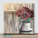Mini – Barnyard Bouquet(Already Framed Canvas)
