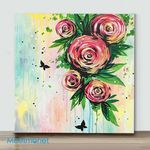 Mini – Rose Symphony(Already Framed Canvas)