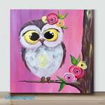 Mini -Spring Owl Cutie Patootie(Already Framed Canvas)