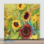 Mini – Golden sunflower#5 (Already Framed Canvas)