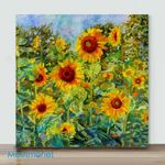 Mini – Golden sunflower#1 (Already Framed Canvas)