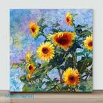 Mini – Golden sunflower#3 (Already Framed Canvas)