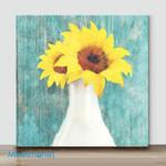 Mini-Sunflower White Vase(Already Framed Canvas)
