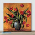 Mini-Red Tulips(Already Framed Canvas)