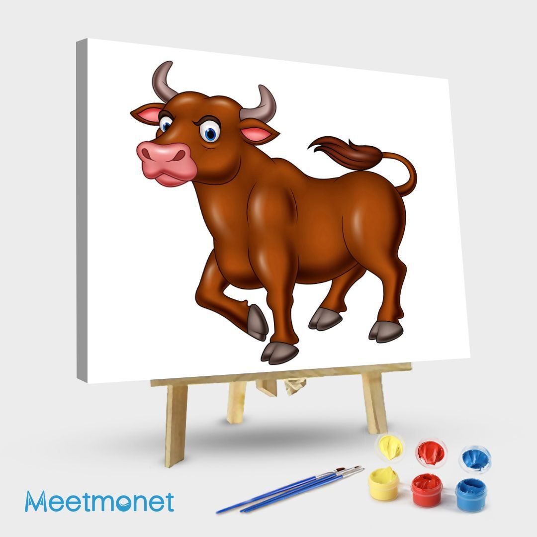 Animated image of bull