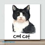 Mini-Cool Cat(Already Framed Canvas)