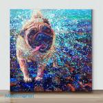 Mini-Pug(Already Framed Canvas)