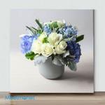 Mini-Small Gray Vase Flower(Already Framed Canvas)