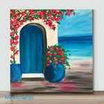 Mini-Mediterranean Dream(Already Framed Canvas)