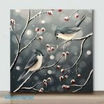Mini-Bokeh Birds II (Already Framed Canvas)