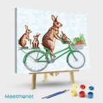 Rabbits On Bike