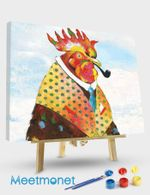 Groovy Rooster and Sky