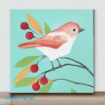 Mini-CuteBird#2(Already Framed Canvas)