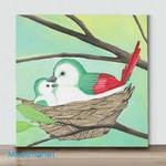 Mini-CuteBird#6(Already Framed Canvas)