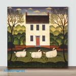 Mini-Lamb At The Door (Already Framed Canvas)