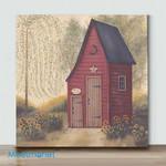 Mini-Folk Art Outhouse (Already Framed Canvas)
