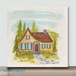 Mini-Forest Hut (Already Framed Canvas)
