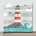 Mini-Lighthouse (Already Framed Canvas)