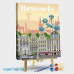 Brussels Travel Poster