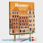 Rome City Travel Poster