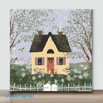 Mini-Yellow House(Already Framed Canvas)
