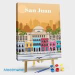 San Juan City Travel Poster