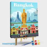 Bangkok Travel Poster