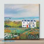 Mini-Beach View Cottages (Already Framed Canvas)
