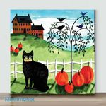 Mini-Cats Crows (Already Framed Canvas)