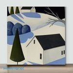 Winter Warm House 2– Mini Paint by Number Kits (Already Framed Canvas)