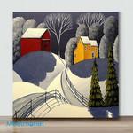 Mini-Winter Warm House 1 (Already Framed Canvas)
