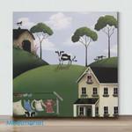 Mini-Forest House 2 (Already Framed Canvas)