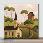 Mini-Forest House 3 (Already Framed Canvas)