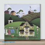 Mini-Forest House (Already Framed Canvas)