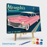 Memphis TN Pink Caddy Horizontal