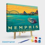 Memphis TN River View Horizontal