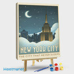 New York City Moonlit Clouds