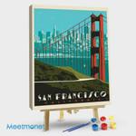 San Francisco Golden Gate Bridge Skyline