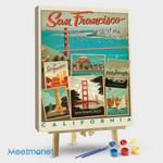 San Francisco Multi-Image Collage Print