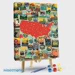 American Travel Collage Map