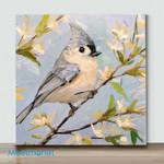 Mini-Bird Art 32 (Already Framed Canvas)