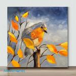 Mini-Bird Art 33 (Already Framed Canvas)