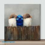 Mini-Bird Art 40 (Already Framed Canvas)
