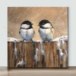 Mini-Bird Art 36 (Already Framed Canvas)