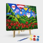 Poppies and Balloons